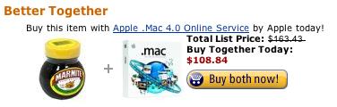 Amazon Marmite + .Mac
